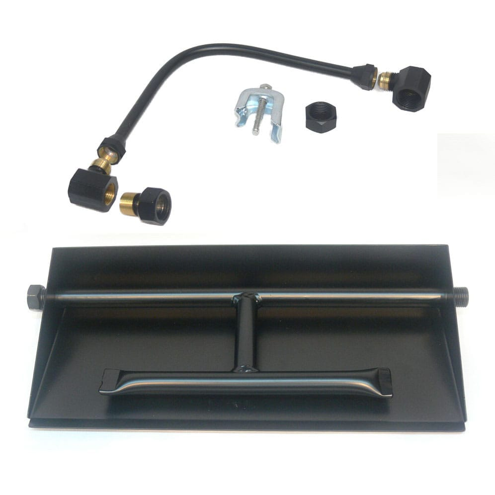 27 inch Powder Coated Dual Burner Pan Kit NG - grayburd