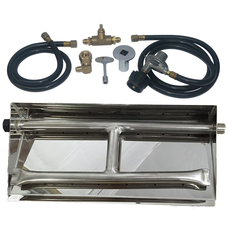 32 inch Stainless Steel Dual Burner Pan LP - grayburd