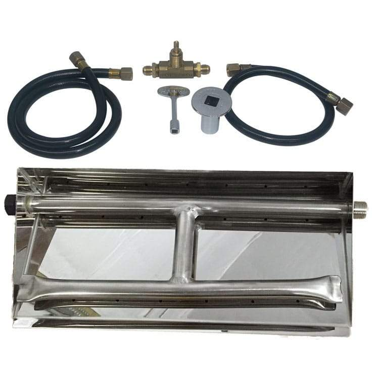 15 inch Stainless Steel Dual Burner Pan NG - grayburd