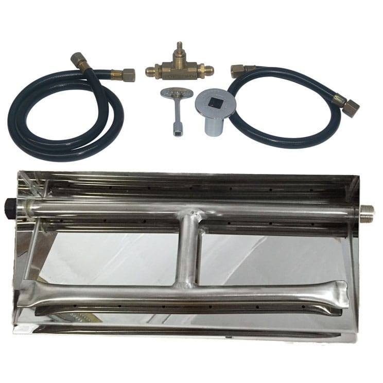 27 inch Stainless Steel Dual Burner Pan NG - grayburd