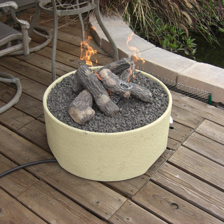 Patio Pleasures Stucco Fire Pit - grayburd