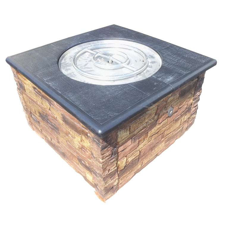 36in KD Fire Pit with 36in Top Kit Brown Black - grayburd