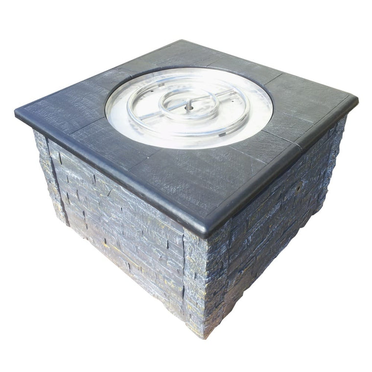 36in KD Fire Pit with 36in Top Kit Grey Black - grayburd