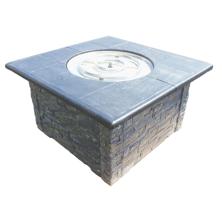 36in KD Fire Pit with 42in Top Kit Grey Black - grayburd