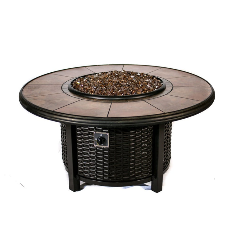 39 inch Round Wicker Fire Pit - grayburd
