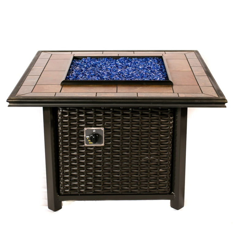 39 inch Square Wicker Fire Pit - grayburd