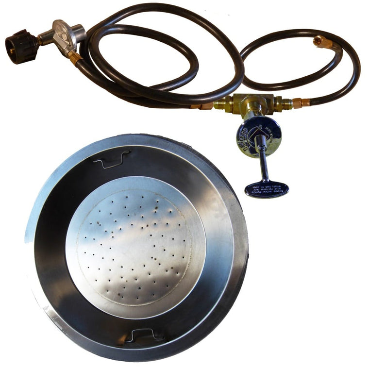 20 inch Stainless Steel Drop In Round Burner Pan NG - grayburd