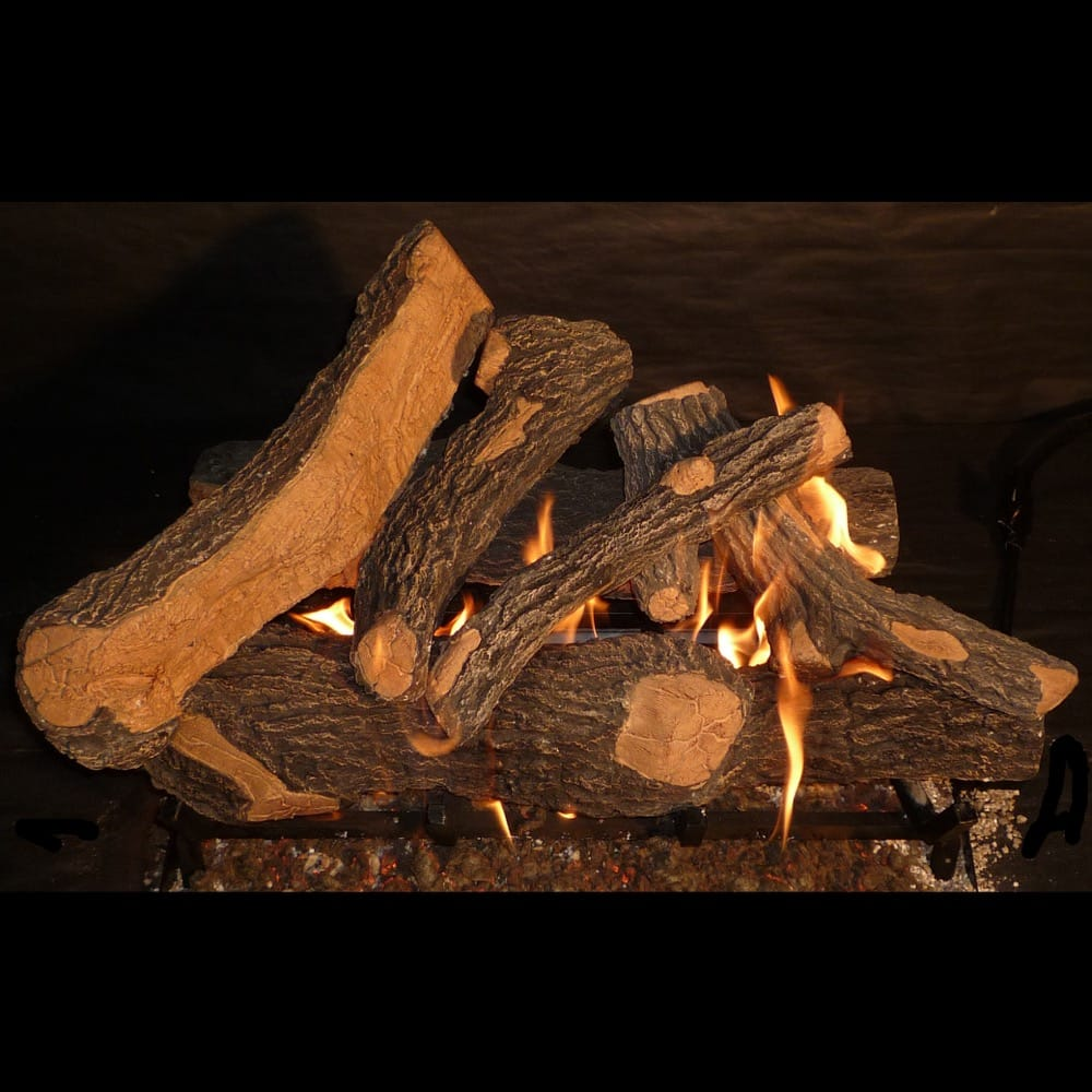 24 inch Canyon Oak Gas Logs - grayburd