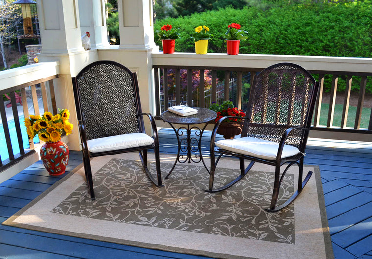 Garden Rocker - 3Pc Set (2 rocker, 1 side table)