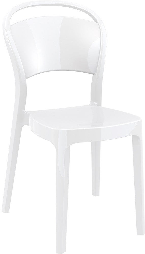 Bo Polycarbonate Dining Chair - grayburd