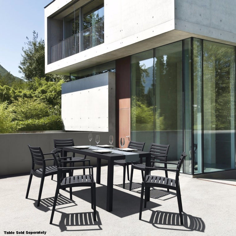 Artemis Outdoor Dining Arm Chair - grayburd