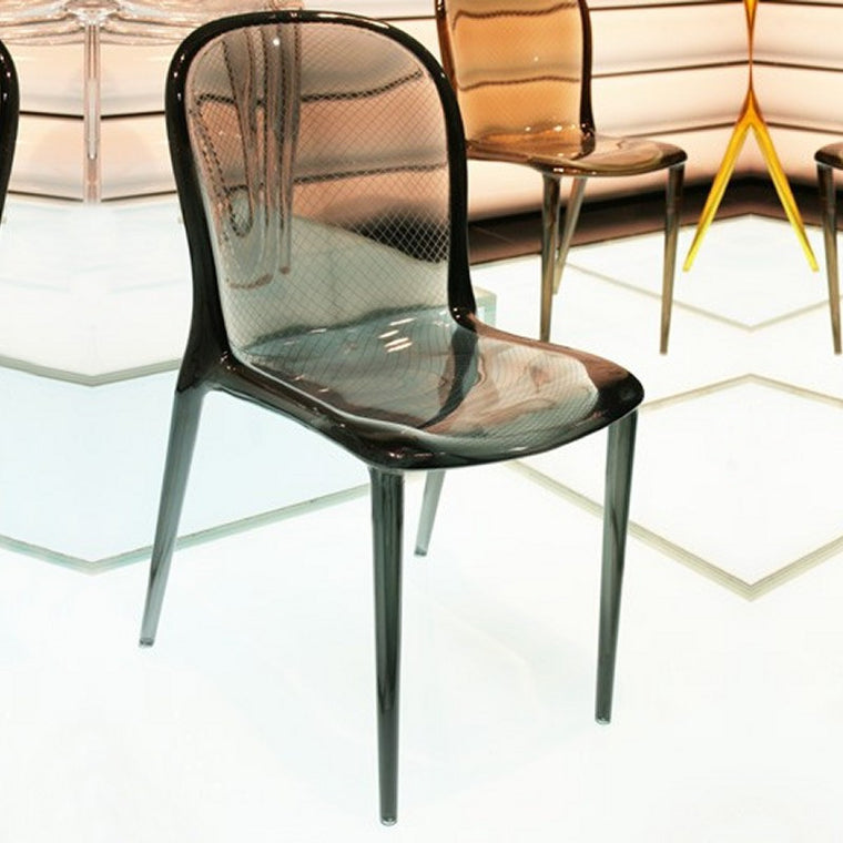 Victoria Polycarbonate Modern Dining Chair - grayburd