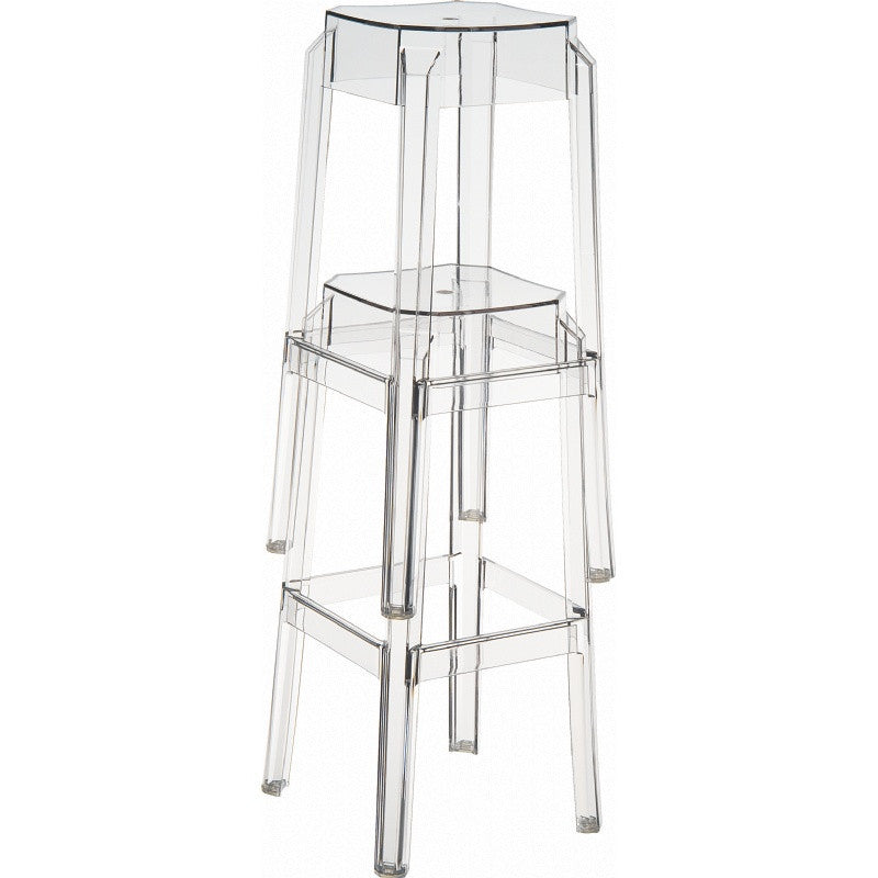 Fox Polycarbonate Counter Stool - grayburd