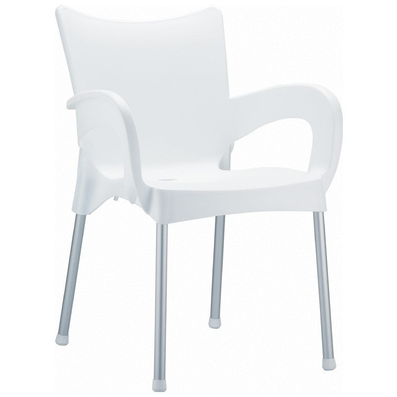 Romeo Resin Dining Arm Chair - grayburd