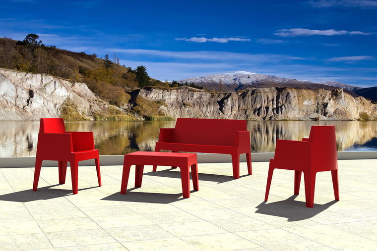 Box Resin Outdoor Bench - grayburd