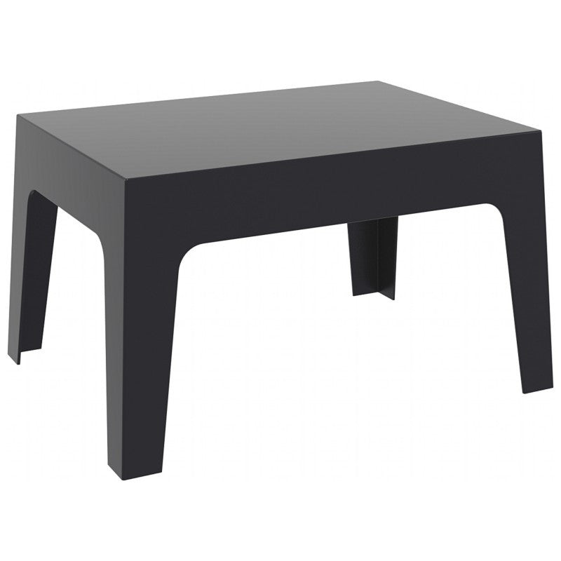 Box Resin Outdoor Center Table - grayburd
