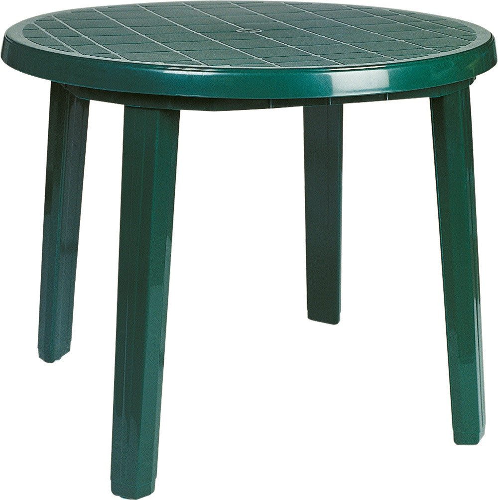 Ronda Resin Round Dining Table 35.5 inch - grayburd