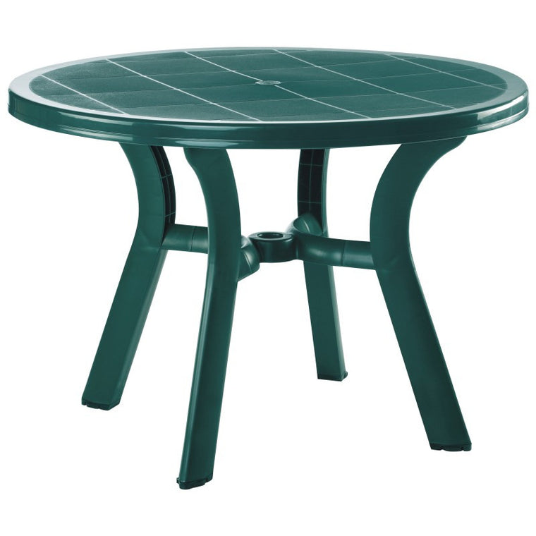 Truva Resin Round Dining Table 42 inch - grayburd