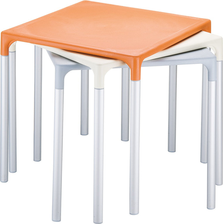 Mango Alu Square Table 28 inch - grayburd