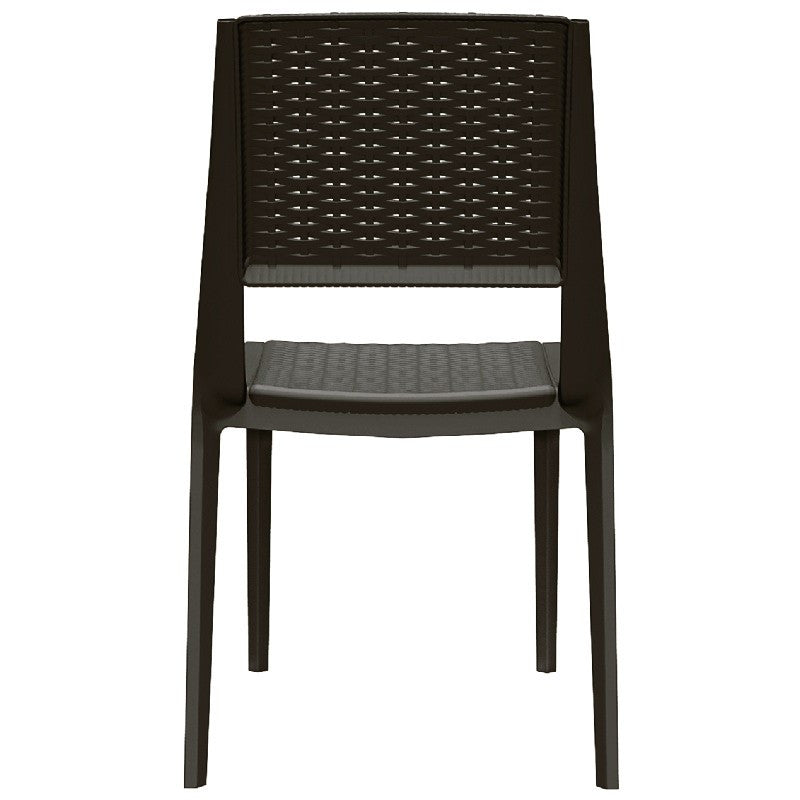Capri Resin Dining Arm Chair - grayburd