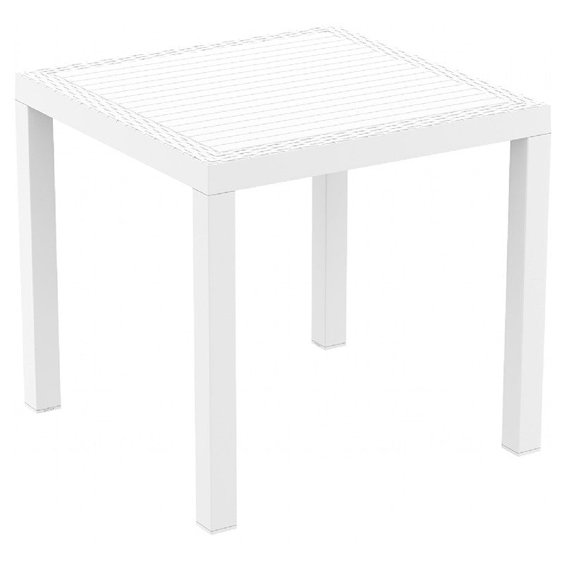 Orlando Resin Wickerlook Square Dining Table 31 inch - grayburd