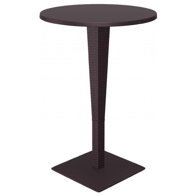 Riva Werzalit Top Round Bar Height Table 27.5 inch - grayburd