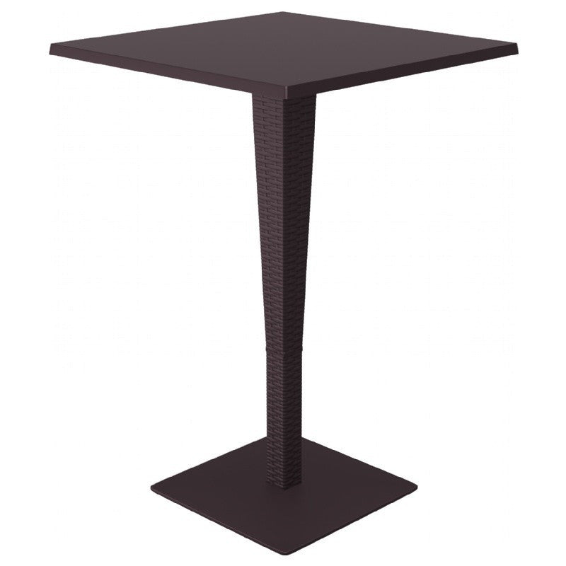Riva Werzalit Top Square Bar Height Table 27.5 inch - grayburd