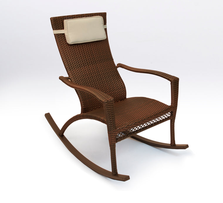 Maracay Rocking Chair with Head Cushion - Java Wicker