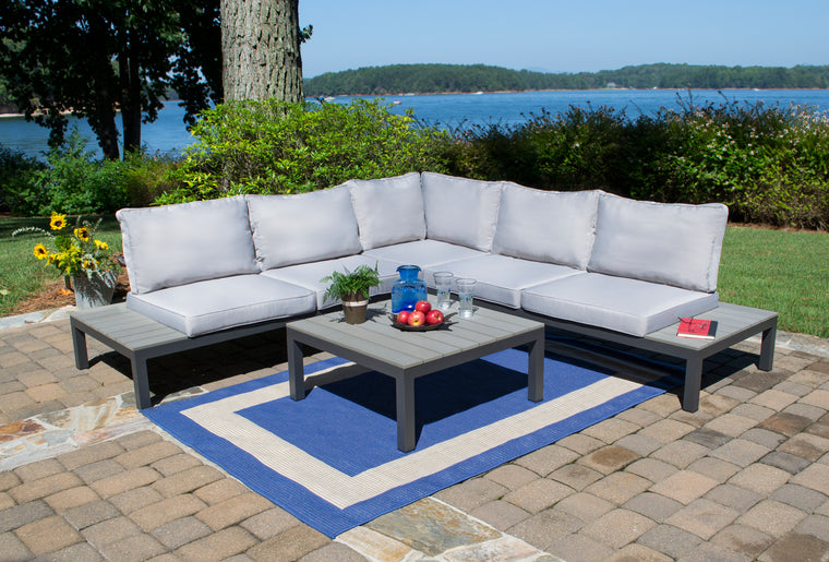 Lakeview 4Pc Outdoor Patio Sectional Set