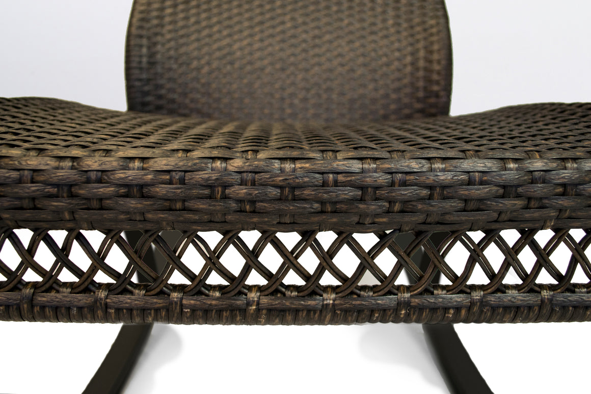 Maracay Rocking Chair with Head Cushion - Tortoise Wicker
