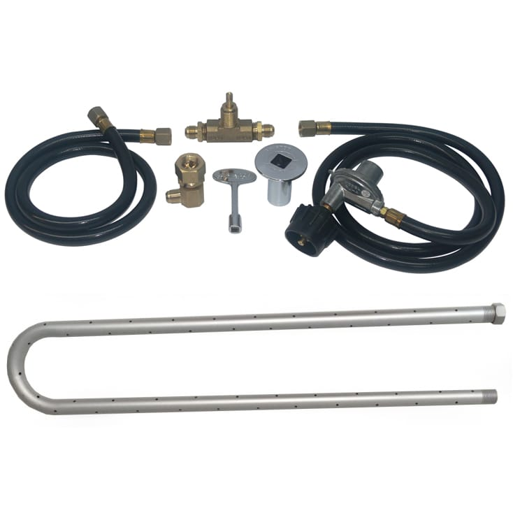 30 inch Powder Coated U Burner Kit LP - grayburd