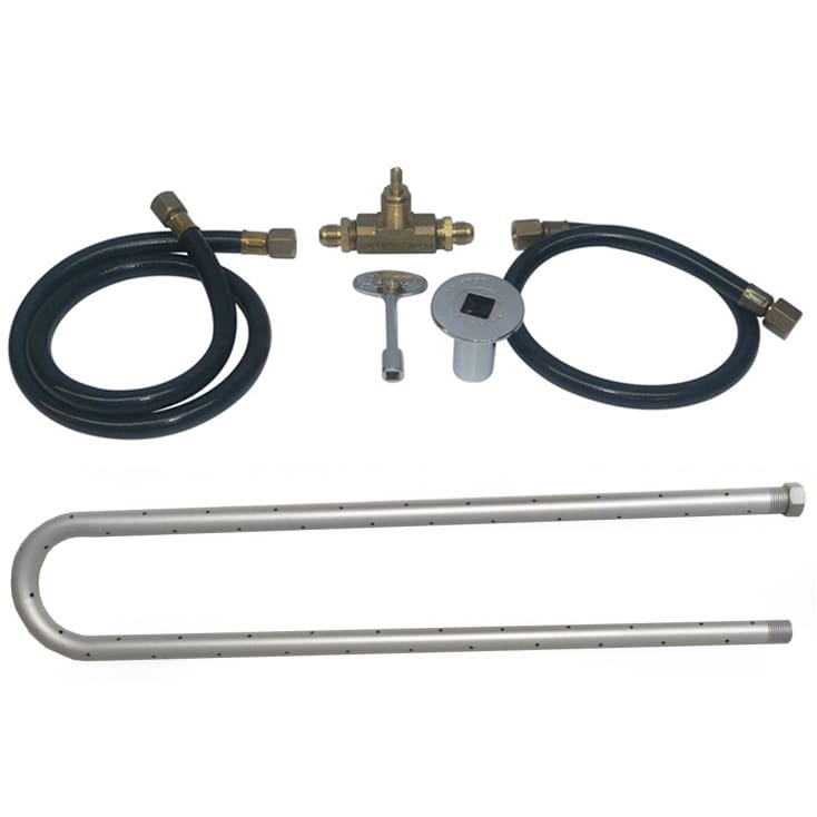 24 inch Powder Coated U Burner Kit NG - grayburd