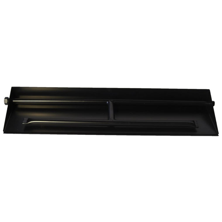 27 inch Powder Coated Dual Burner Pan - grayburd