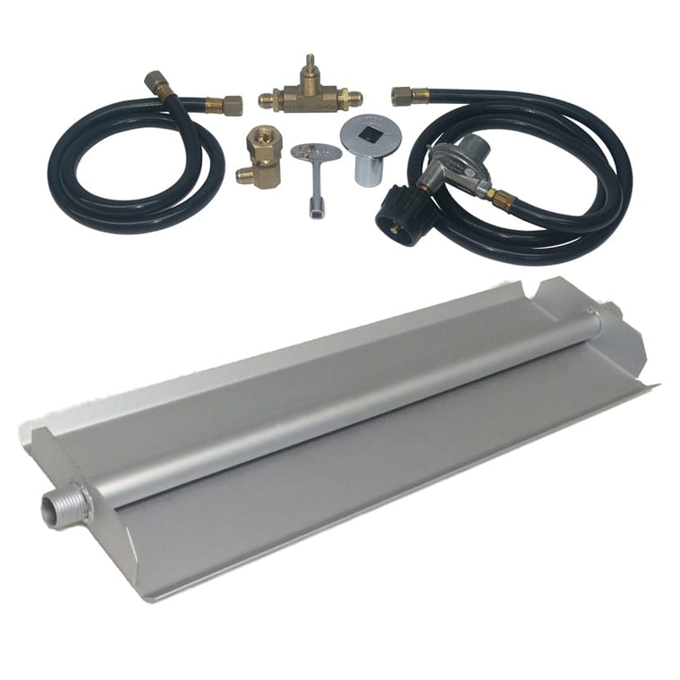 24 inch Powder Coated Linear Burner Pan Kit LP - grayburd