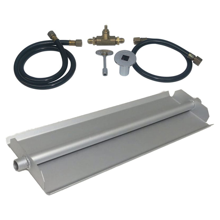 30 inch Powder Coated Linear Burner Pan Kit NG - grayburd