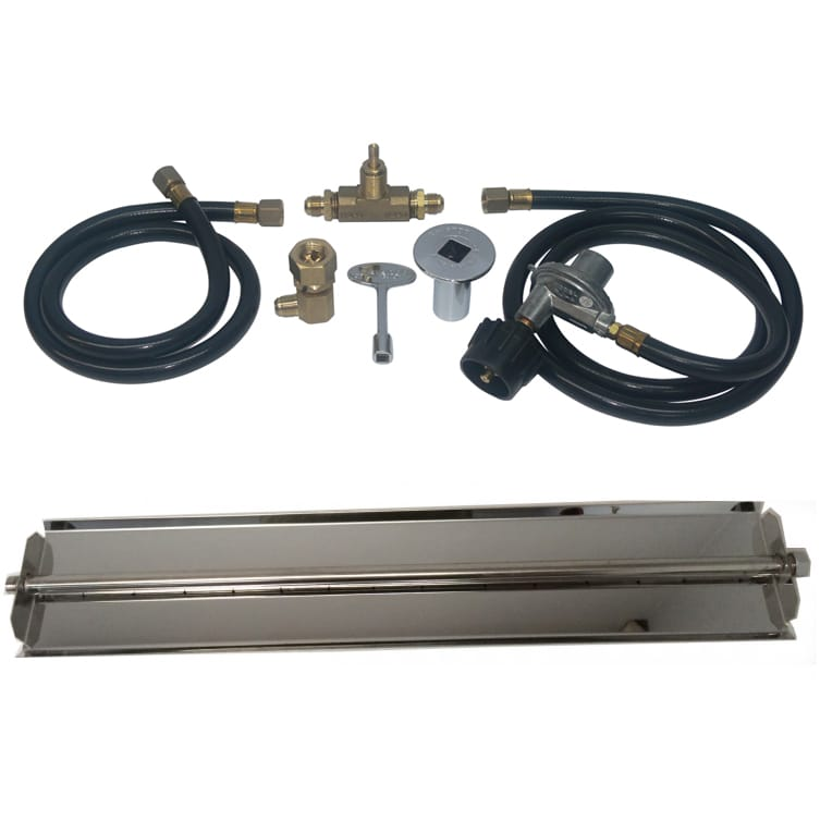 24 inch Stainless Steel Linear Burner Pan Kit LP - grayburd