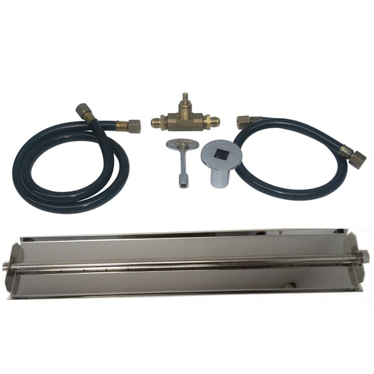 24 inch Stainless Steel Linear Burner Pan Kit NG - grayburd
