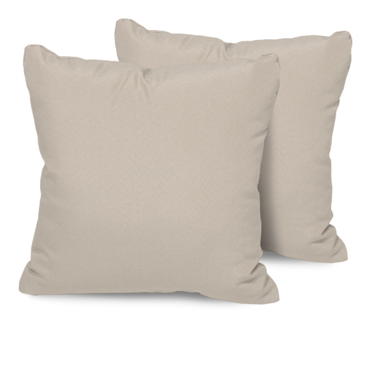 Beige Outdoor Throw Pillows Square Set of 2 , TK Classics- grayburd