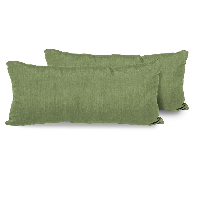 Cilantro Outdoor Throw Pillows Rectangle Set of 2 , TK Classics- grayburd