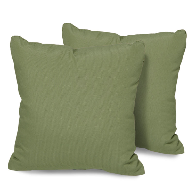 Cilantro Outdoor Throw Pillows Square Set of 2 , TK Classics- grayburd