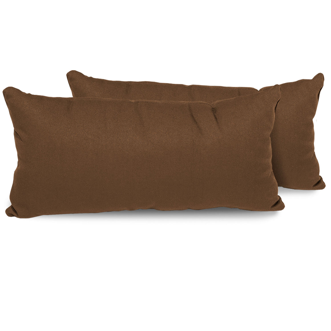 Cocoa Outdoor Throw Pillows Rectangle Set of 2 , TK Classics- grayburd
