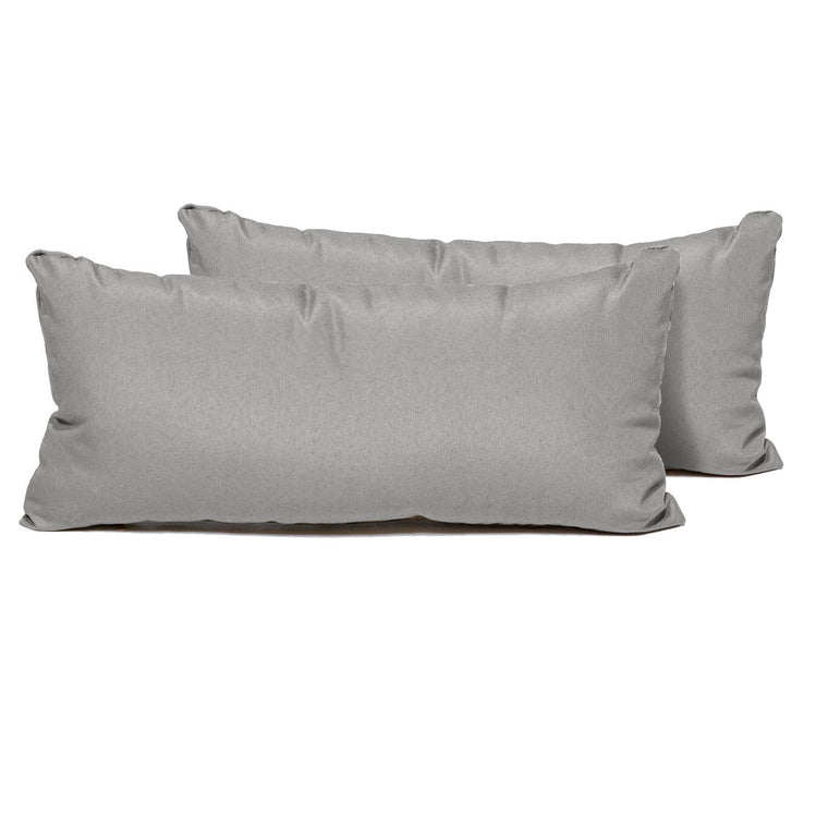 Grey Outdoor Throw Pillows Rectangle Set of 2 , TK Classics- grayburd