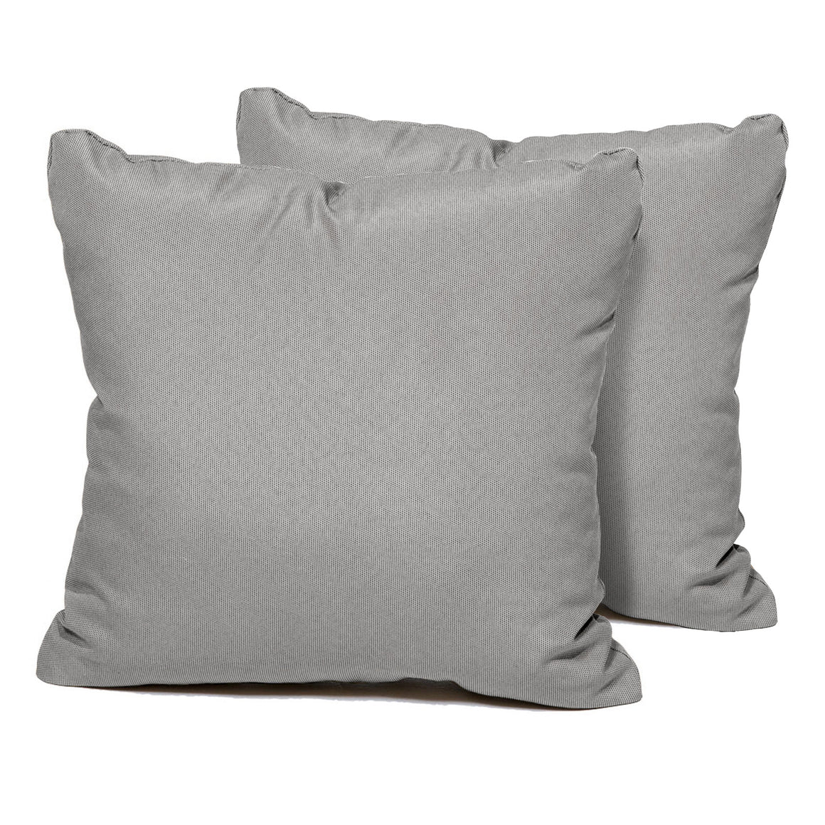 Grey Outdoor Throw Pillows Square Set of 2 , TK Classics- grayburd