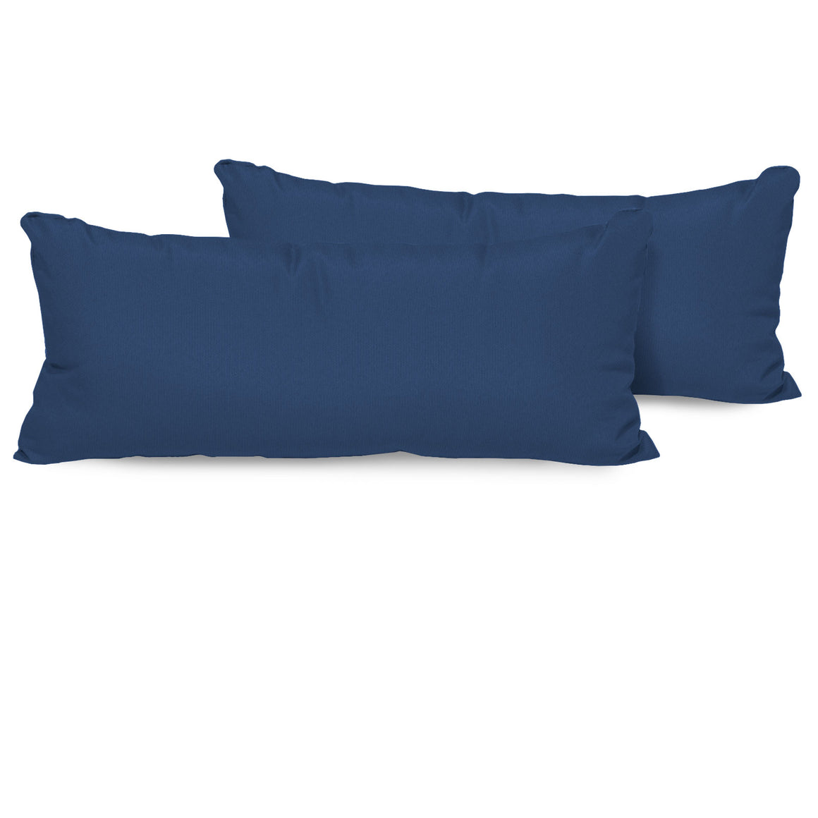 Navy Outdoor Throw Pillows Rectangle Set of 2 , TK Classics- grayburd