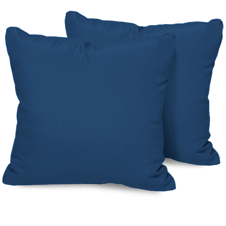 Navy Outdoor Throw Pillows Square Set of 2 , TK Classics- grayburd
