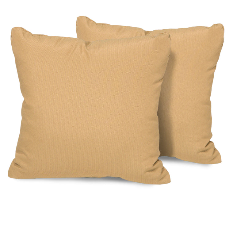 Sesame Outdoor Throw Pillows Square Set of 2 , TK Classics- grayburd