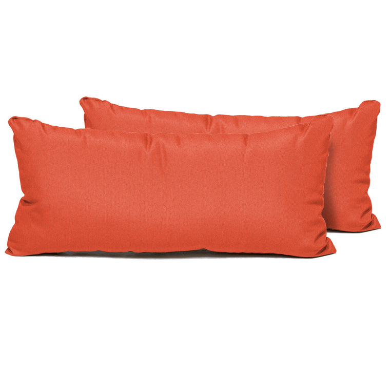 Tangerine Outdoor Throw Pillows Rectangle Set of 2 , TK Classics- grayburd