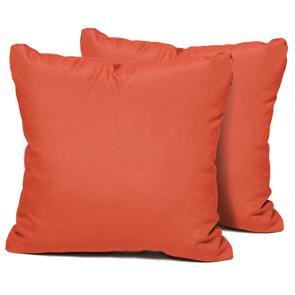 Tangerine Outdoor Throw Pillows Square Set of 2 , TK Classics- grayburd