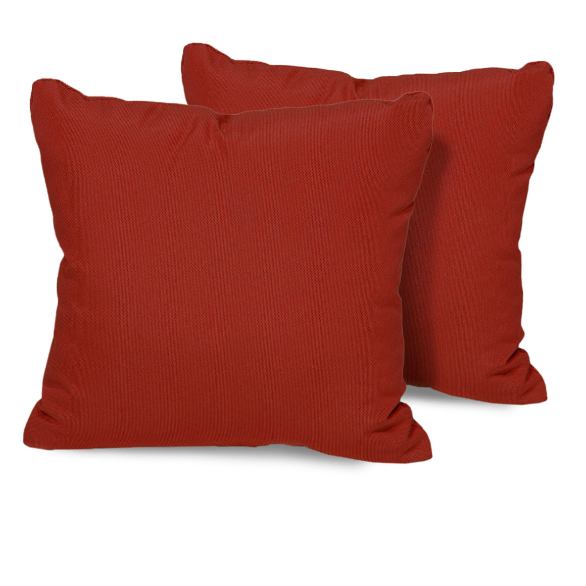 Terracotta Outdoor Throw Pillows Square Set of 2 , TK Classics- grayburd