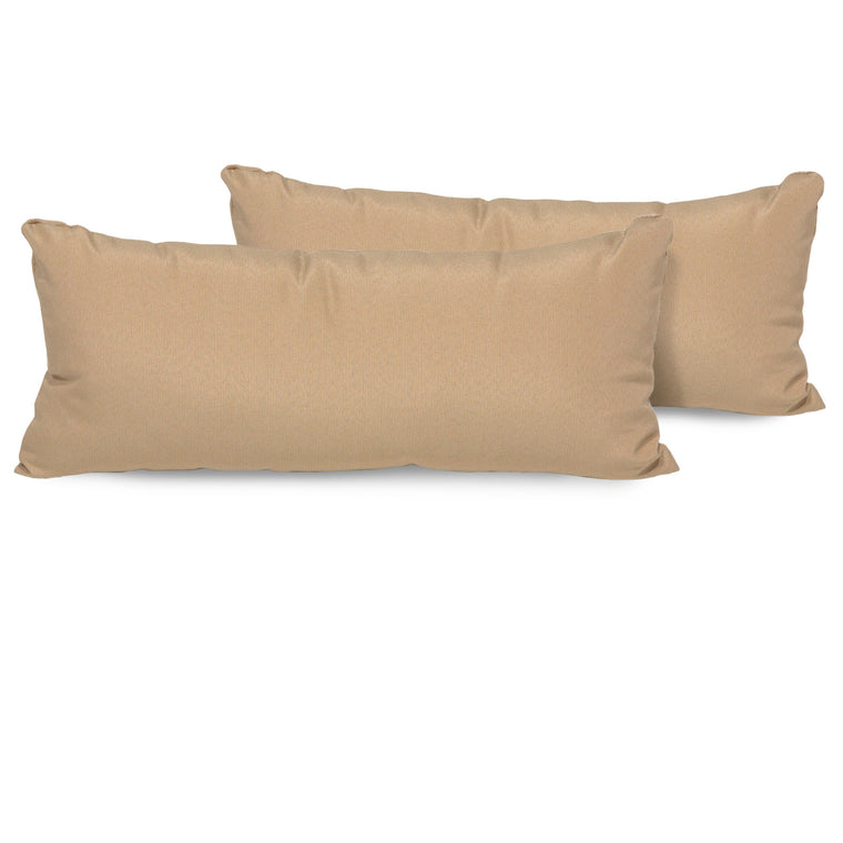 Wheat Outdoor Throw Pillows Rectangle Set of 2 , TK Classics- grayburd